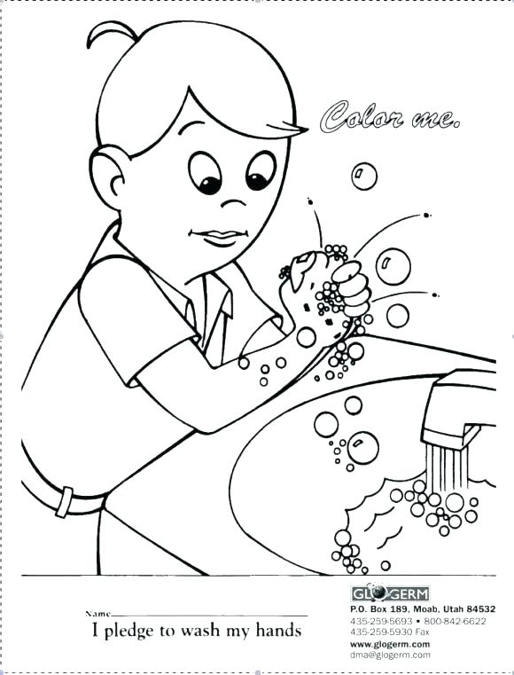 580x761 Spanish Coloring Page Hand Washing Coloring Page Hand Washing