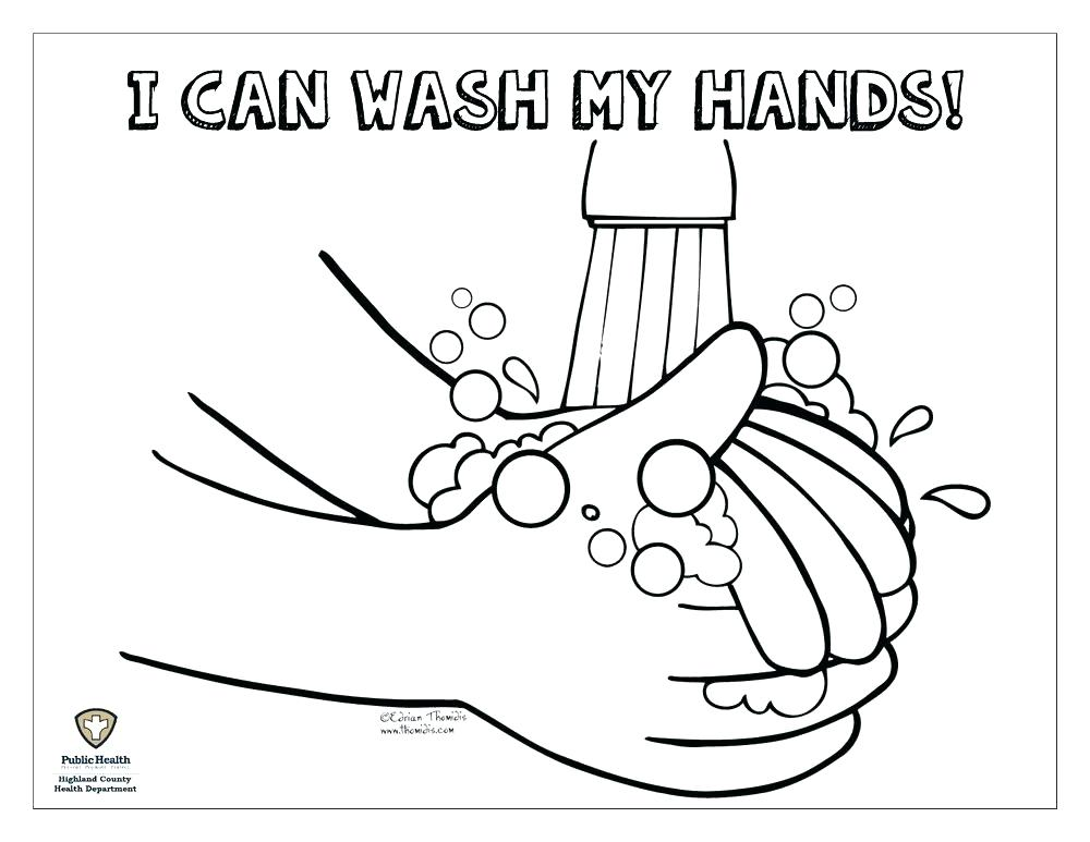 1000x773 Hand Washing Coloring Page