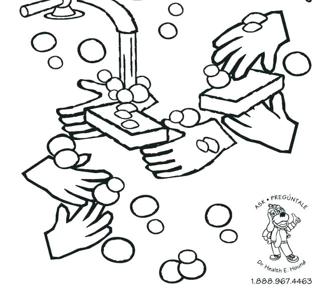 660x600 Germ Coloring Page Cute Coloring Free Printable Hand Washing