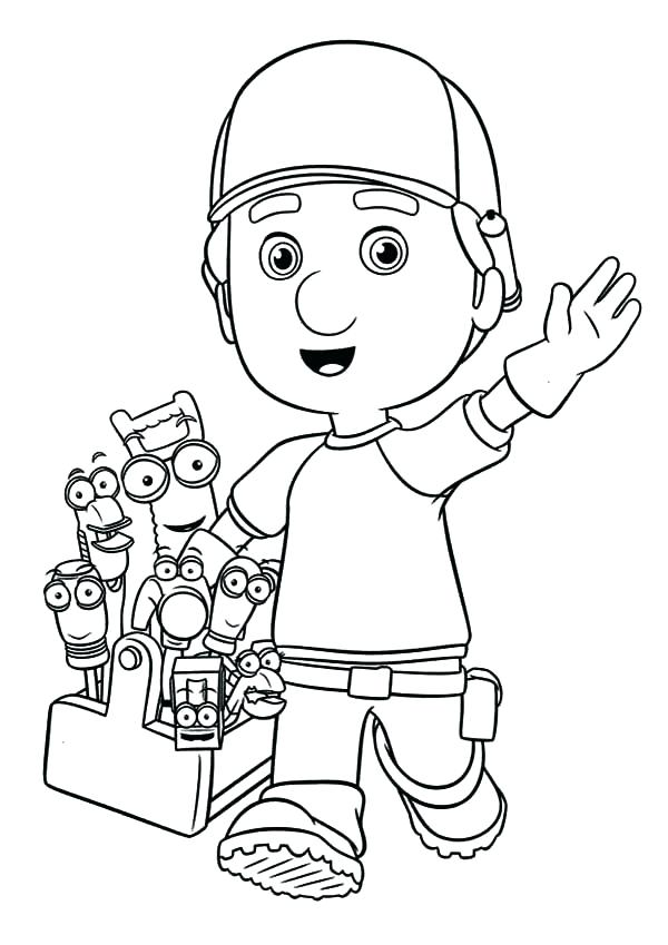 600x849 Handy Manny Coloring Pages Beautiful Handy Coloring Pages Free