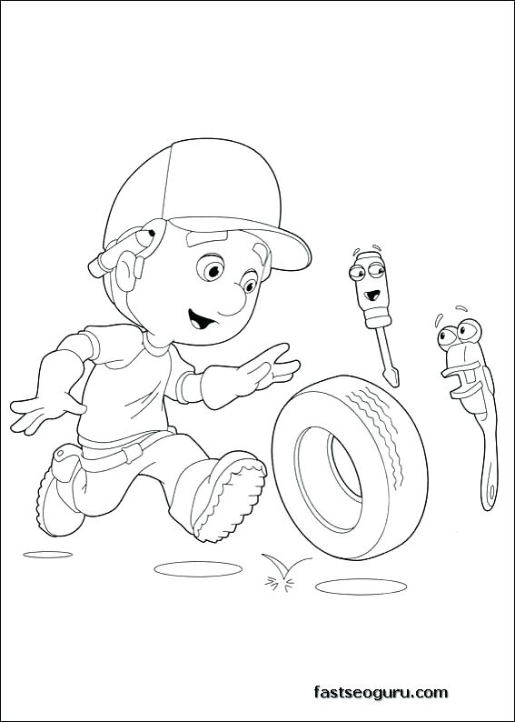 567x794 Handy Manny Coloring Pages Handy Coloring Book Plus Handy Coloring