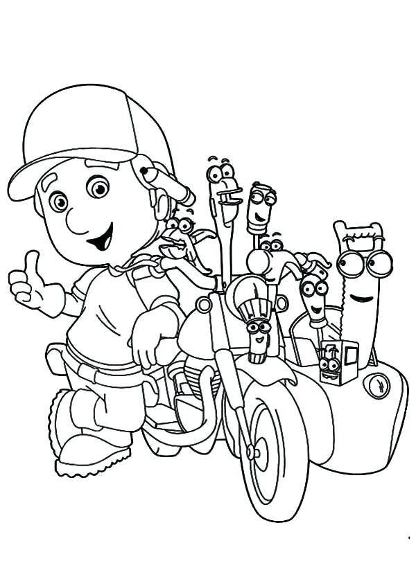 600x833 Handy Manny Tools Coloring Pages Ols Handy Manny Tools Coloring