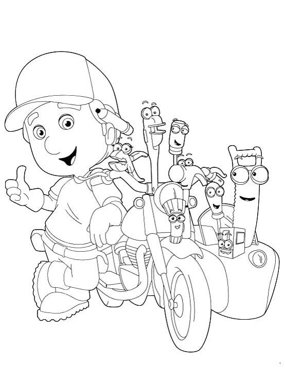 554x744 Printable The Tools With Handy Manny Coloring For Kids Kiddos