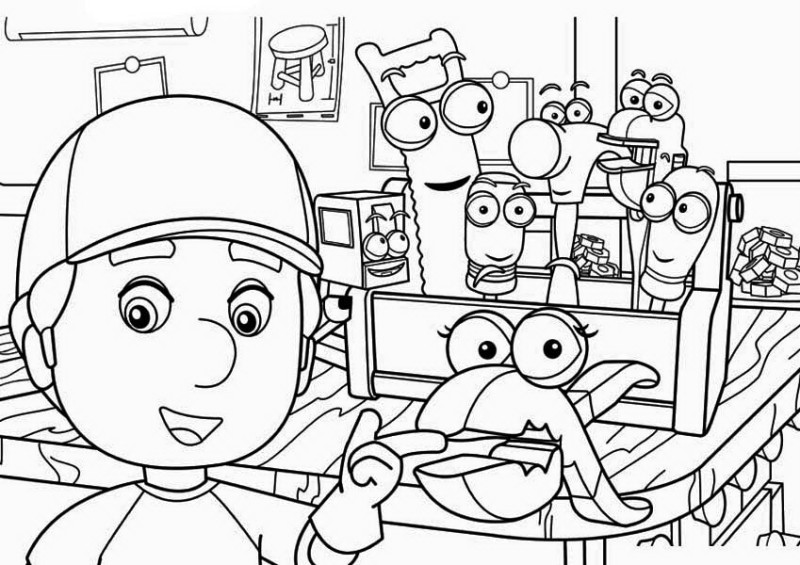 800x565 Squeeze And Manny Handy Manny Coloring Page Squeeze And Manny