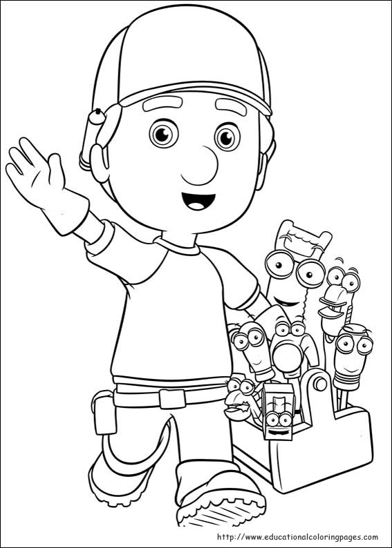 567x794 Handy Manny Coloring Pages To Print Handy Manny Coloring Pages