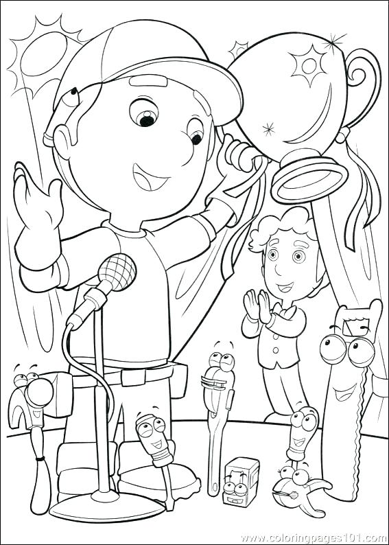 567x794 Handy Manny Tools Coloring Pages