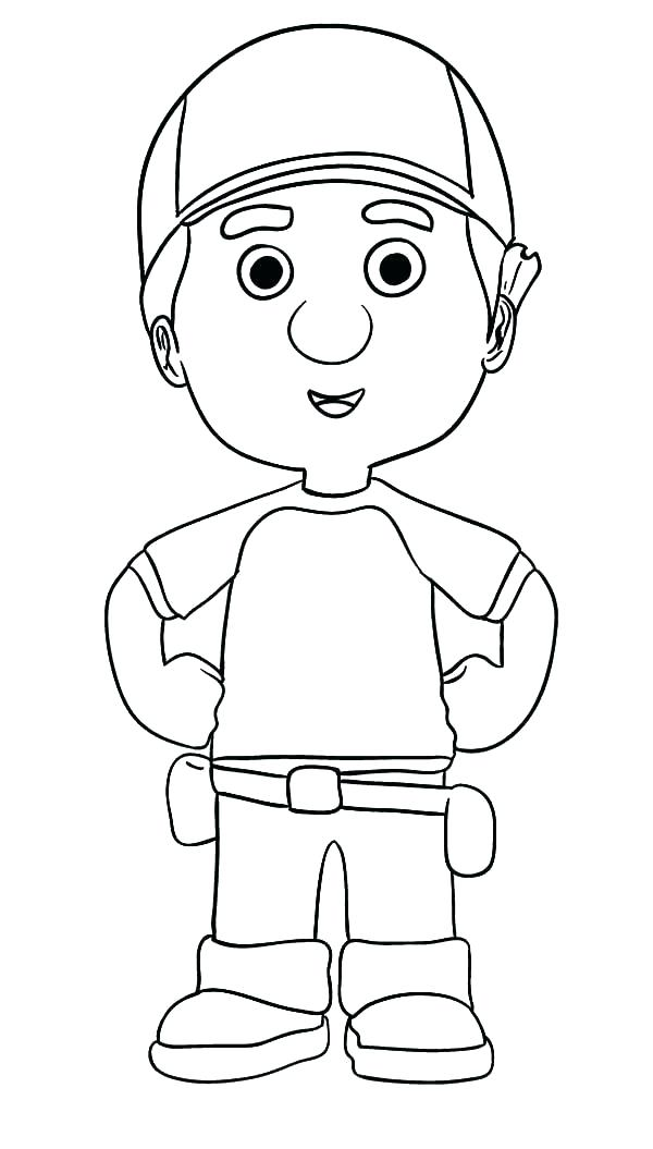 600x1055 Handy Manny Coloring Handy Coloring Pages Handy Manny Coloring