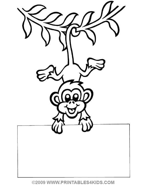 Hanging Monkey Coloring Pages at GetDrawings.com   Free for personal ...