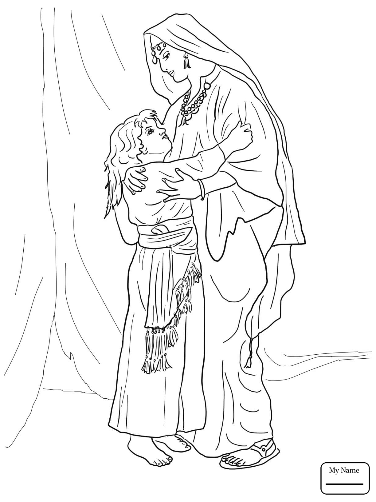 1224x1632 Hannah And Samuel Coloring Page