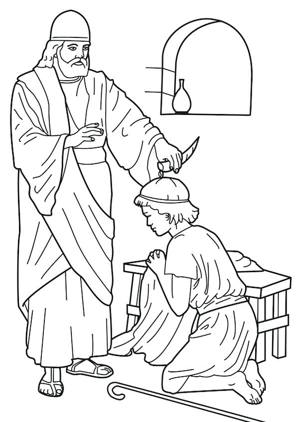600x848 Hannah And Samuel Coloring Page Anointed As King Coloring Page