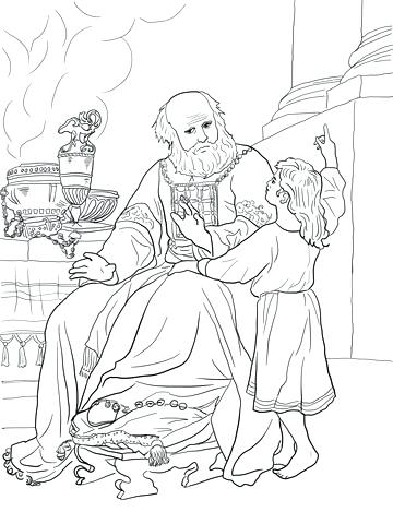 360x480 Hannah And Samuel Coloring Page Click To See Printable Version