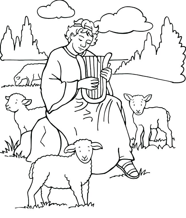 648x762 Hannah And Samuel Coloring Page Pages Pin Shepherd Boy Bible