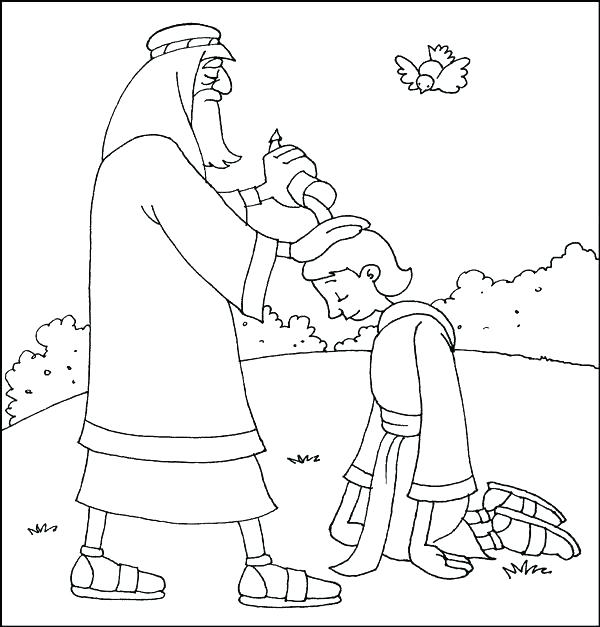 600x627 Samuel Coloring Page Kids Coloring Page From Whats In The Bible