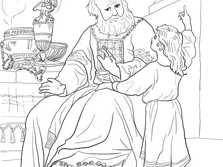 440x330 Samuel Coloring Pages And Coloring Page Hannah And Baby Samuel