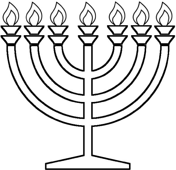 600x580 Hanukkah Coloring Pages