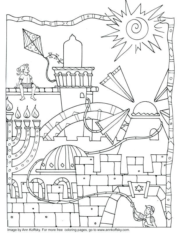 616x800 Hanukkah Coloring Pages Printable For Menorah Coloring Page
