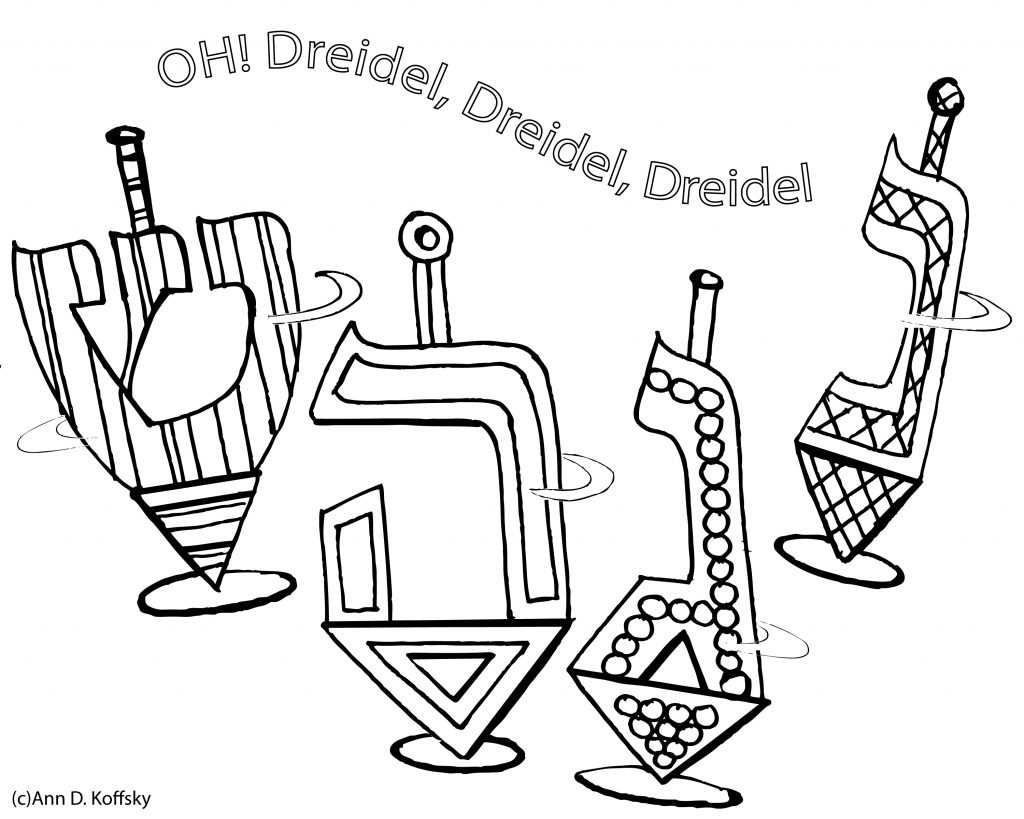 1024x819 Of The Best, Most Artful Hanukkah Coloring Pages