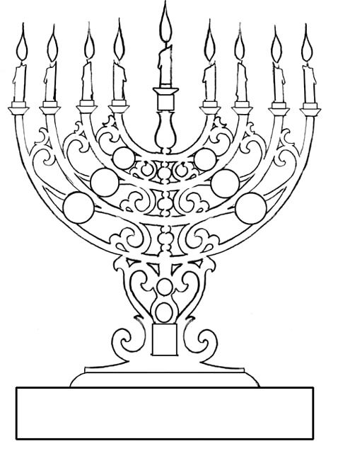478x637 Very Antique Candles While Hanukkah Coloring Pages