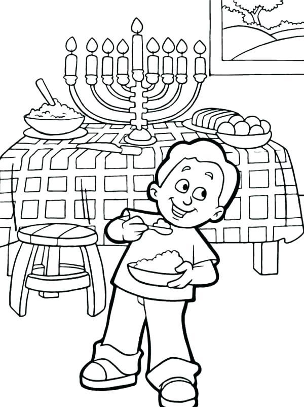 600x802 Happy Hanukkah Coloring Pages