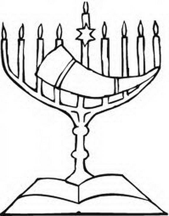 570x728 Hanukkah Coloring Pages Menorahs