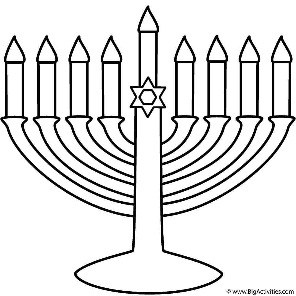 1000x1000 Menorah With Happy Hanukkah