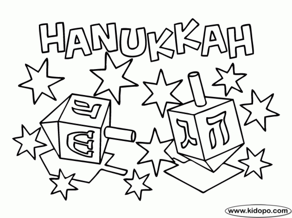 960x716 Free Hanukkah Coloring Pages