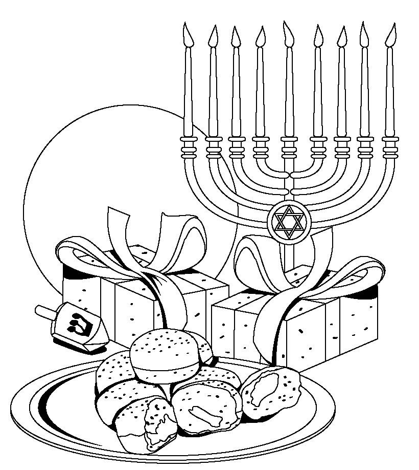 820x918 Hanukkah Coloring Pages