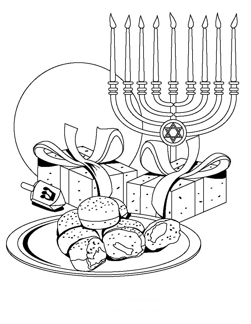 820x1060 Hanukkah Coloring Pages Printable Zuckett