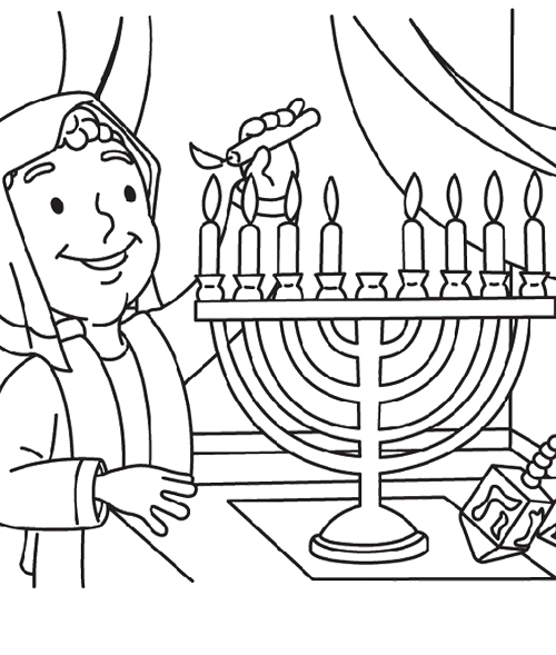 500x589 Hanukkah Coloring Pages Free Coloring Pages For Kids