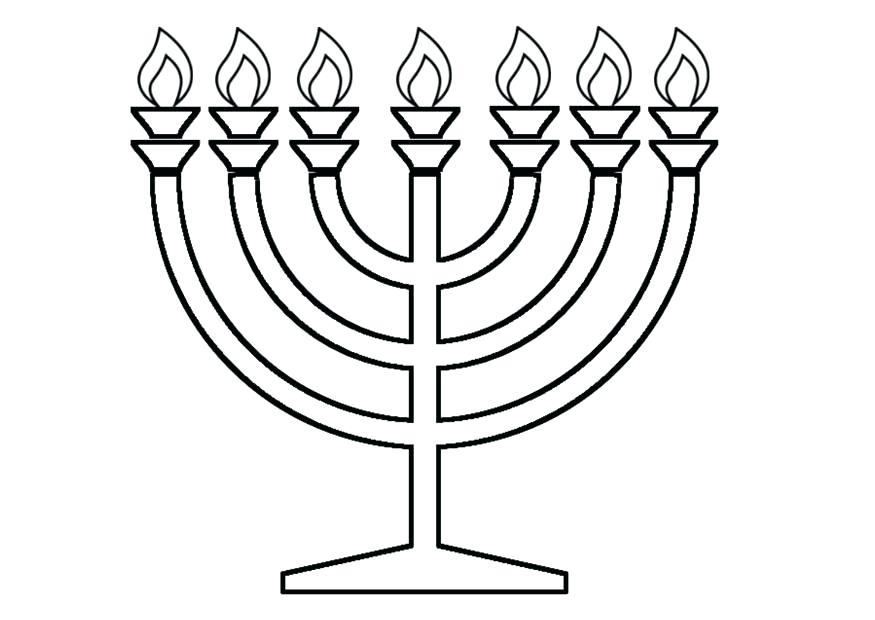 875x620 Hanukkah Coloring Pages Printable For Menorah Coloring Page