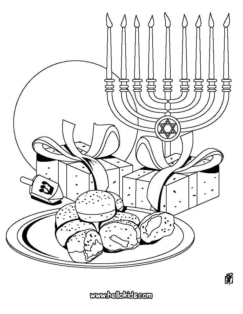 820x1060 Menorah Coloring Page Chanukah Symbols Chanuka Hanukkah