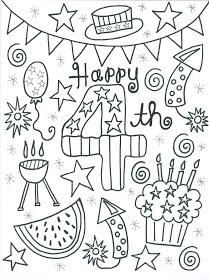 209x280 Of July Coloring Page Preschool Activities
