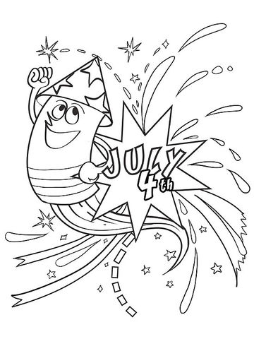 360x480 Best Happy Of July Coloring Pages Free Printable Free