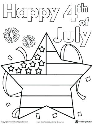 300x400 Fourth Of July Coloring Pages Happy