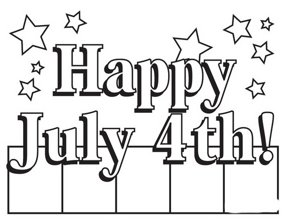 Happy 4th Of July Coloring Pages At Getdrawings Com