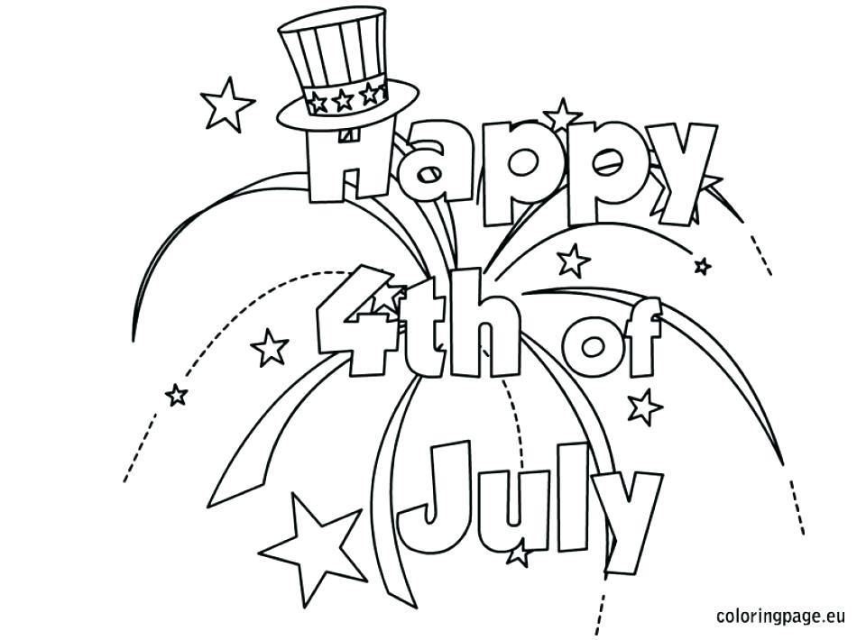 960x710 July Fourth Coloring Pages Four Coloring Sheets Happy