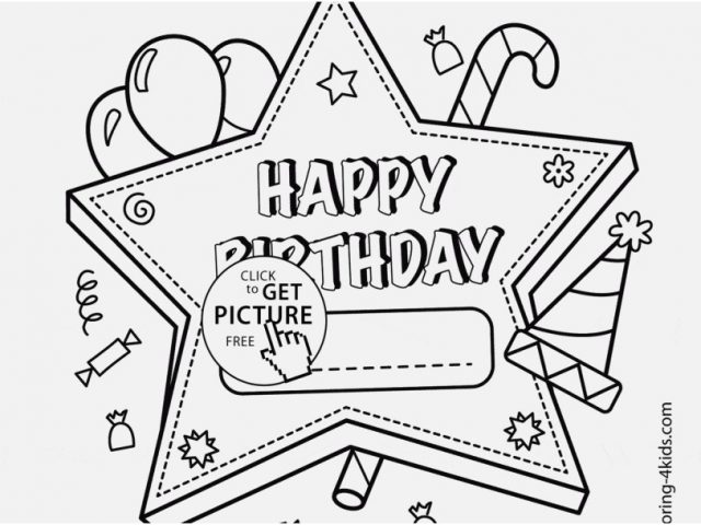 640x480 Printable Coloring Birthday Cards Design Book Free