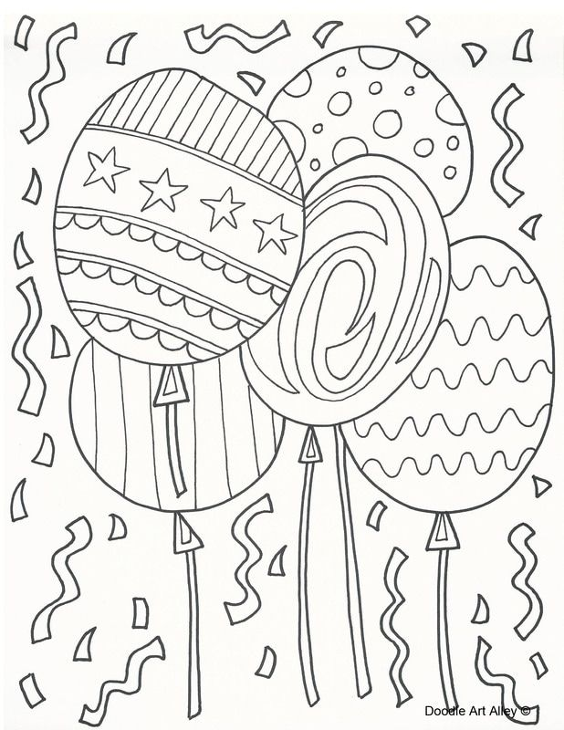 Happy Birthday Adult Coloring Pages
