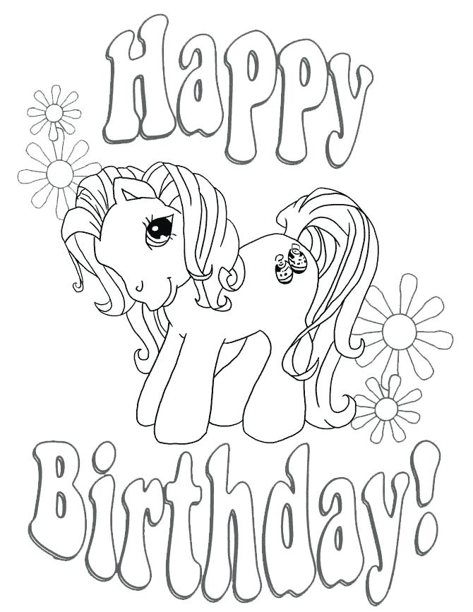 670x867 Happy Birthday Coloring Page Happy Birthday Coloring Pages