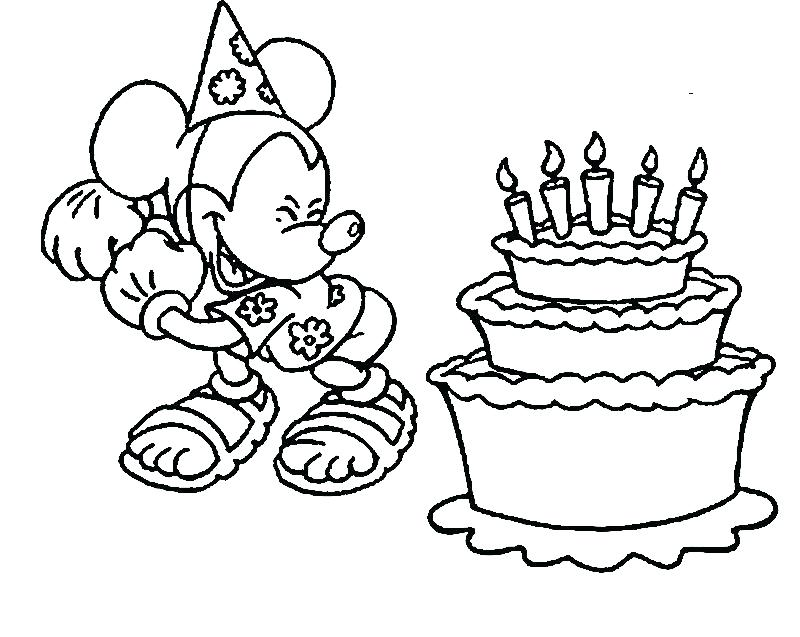 800x637 Happy Birthday Coloring Pages Happy Birthday Coloring Pages Happy