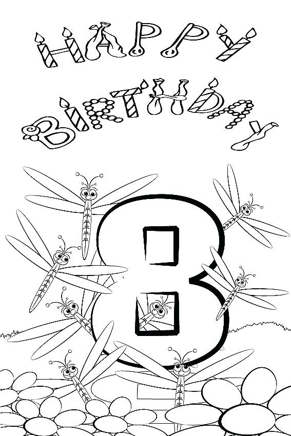 567x850 Happy Birthday Coloring Sheet Coloring Sheets For Your Birthday