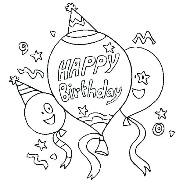 600x600 Birthday Color Pages Coloring Page Happy Birthday Birthday Color