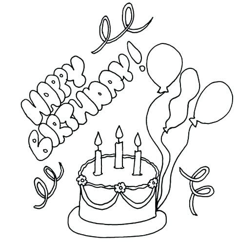 488x500 Happy Birthday Aunt Coloring Pages