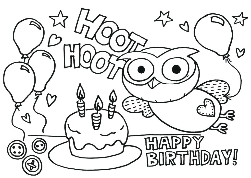 1024x728 Birthday Coloring Pages Aunts Birthday Coloring Pages