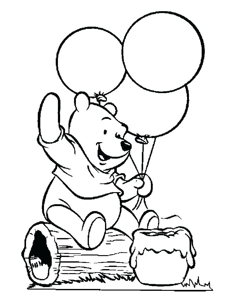 736x944 Coloring Pages Of Balloons Happy Birthday Balloons Coloring Pages