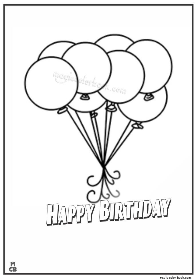 685x975 Balloon Color Page, Color The Balloons Coloring Page Twisty