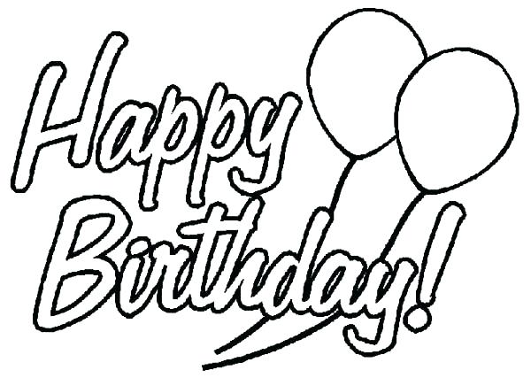600x427 Happy Birthday Balloons Coloring Pages Here Are Balloons Coloring