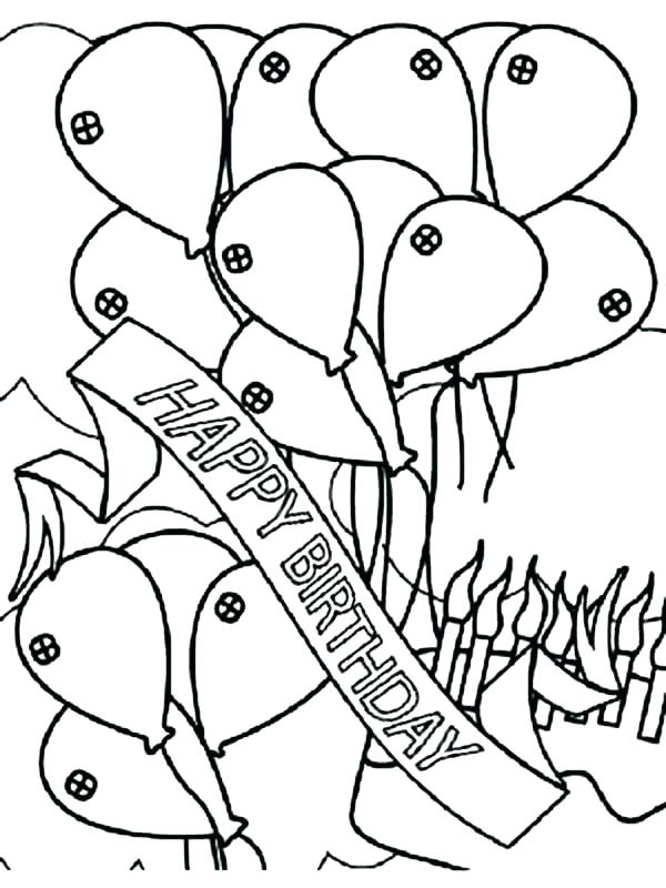 600x800 Happy Birthday Balloons Coloring Pages Home Improvement Loan Rates