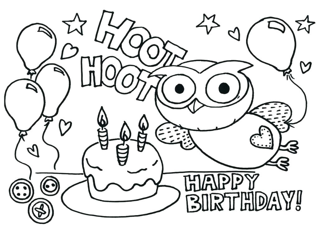 1024x728 Happy Birthday Balloons Coloring Pages S Book Home Improvement