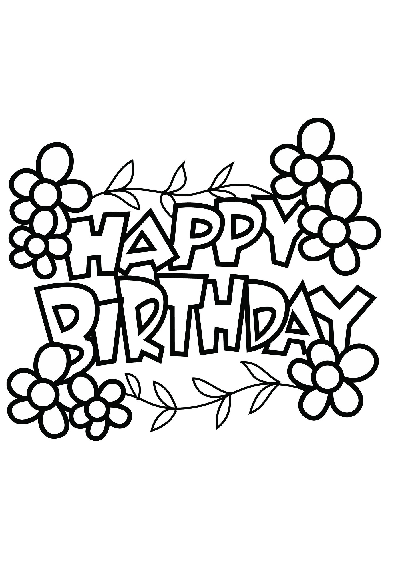 1413x2000 Happy Birthday Balloons Coloring Pages Unique Page For Kids Book